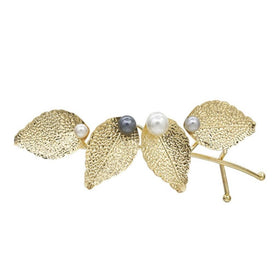 Golden Multiple Leaves Hairclip-JEWELLERY-PropShop24.com