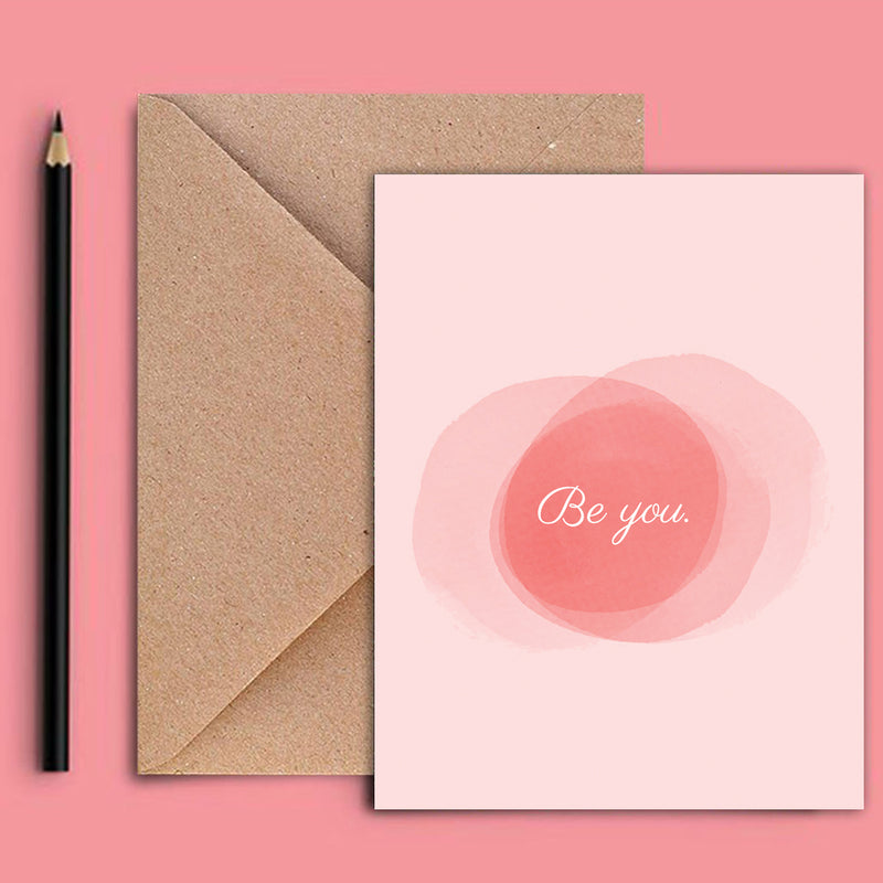 Greeting Card - Be You - Pastel-GREETING CARDS-PropShop24.com