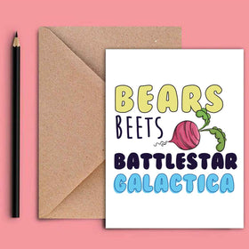 Greeting Card - Bears Beet Battlestar-STATIONERY-PropShop24.com