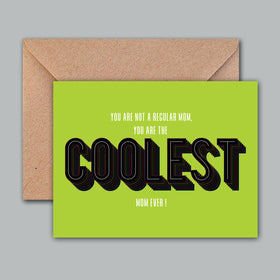 Greeting Card - Coolest Mom-STATIONERY-PropShop24.com