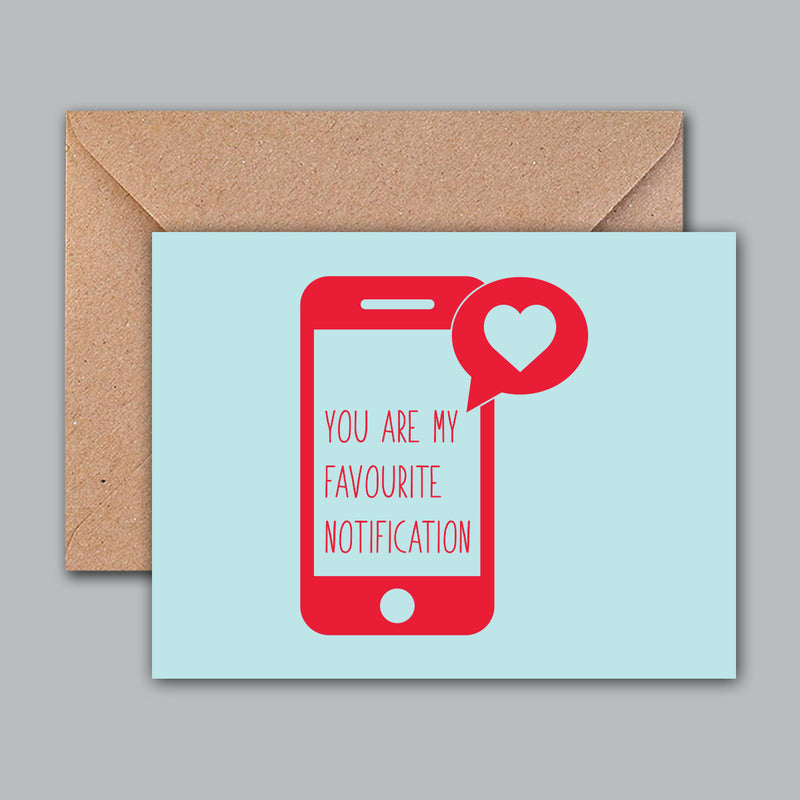 Greeting Card - Favourite Notification-GREETING CARDS-PropShop24.com