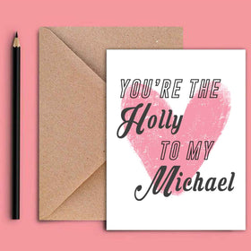 Greeting Card - Holly To My Michael-STATIONERY-PropShop24.com