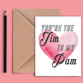 Greeting Card - Jim To My Pam-STATIONERY-PropShop24.com