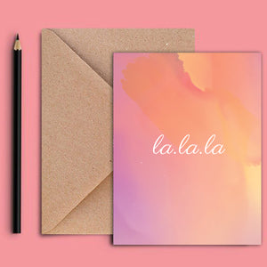 Greeting Card - La La-GREETING CARDS-PropShop24.com