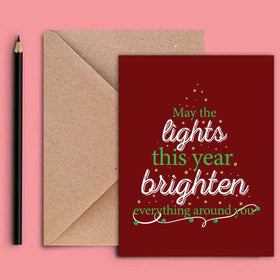 Greeting Card - Lights-STATIONERY-PropShop24.com