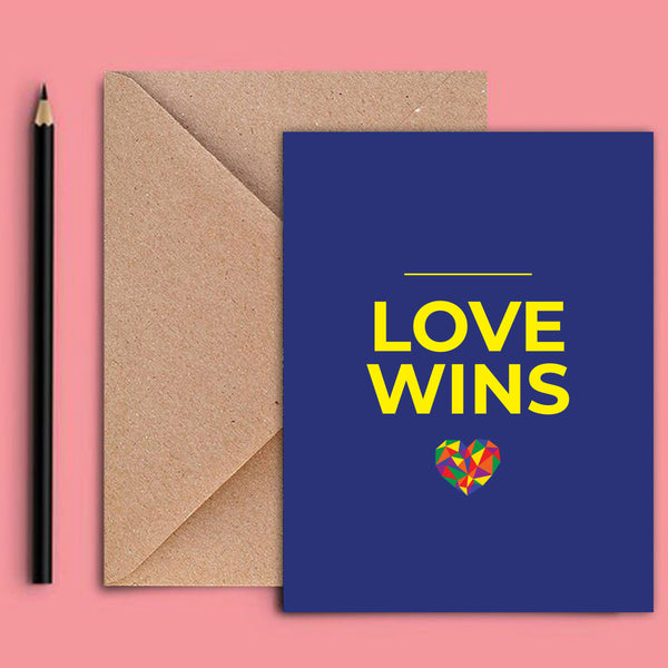 Greeting Card - Love Wins-STATIONERY-PropShop24.com