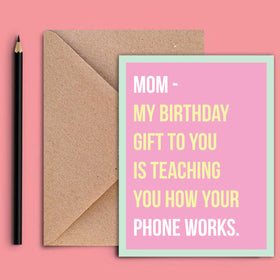 Greeting Card - Moms Birthday Gift-STATIONERY-PropShop24.com