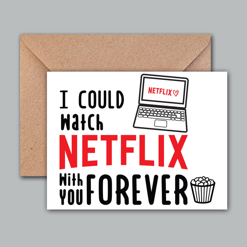 Greeting Card - Netflix Love-GREETING CARDS-PropShop24.com