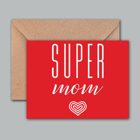 Greeting Card - Super Mom-STATIONERY-PropShop24.com
