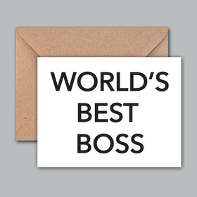 Greeting Card - Worlds Best Boss-STATIONERY-PropShop24.com