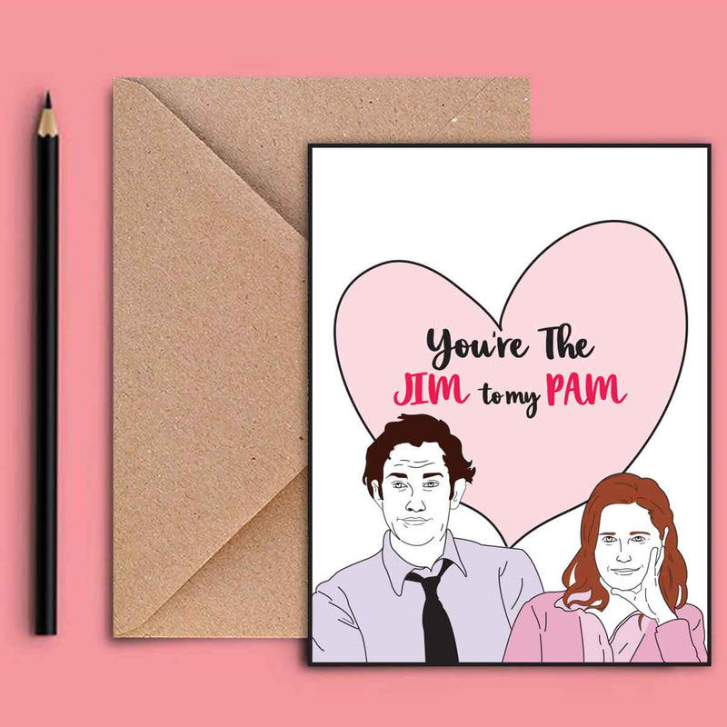 Greeting Card - You Are The Jim To My Pam-GREETING CARDS-PropShop24.com