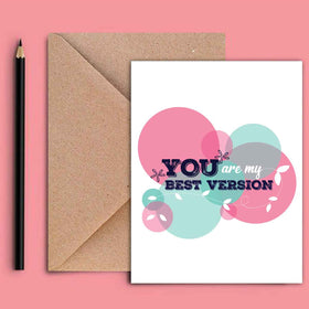 Greeting Card - You're My Best Version-STATIONERY-PropShop24.com