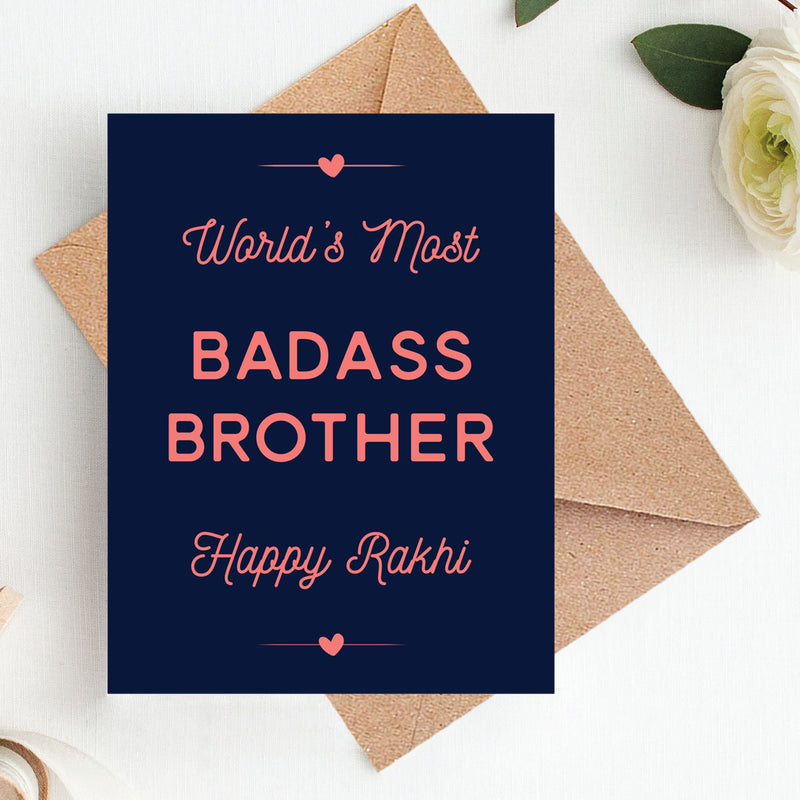 Greeting Card - Badass Brother-STATIONERY-PropShop24.com
