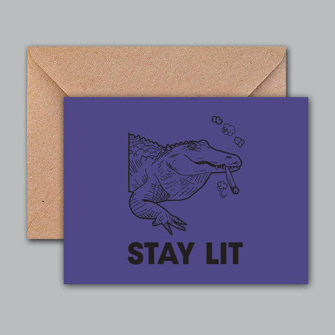 Greeting Card - Stay Lit-STATIONERY-PropShop24.com