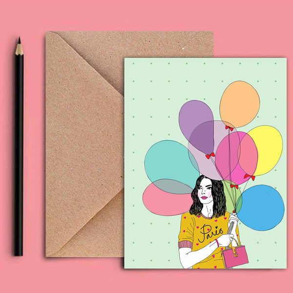 Greeting Card - Balloon Girl-Stationery-PropShop24.com
