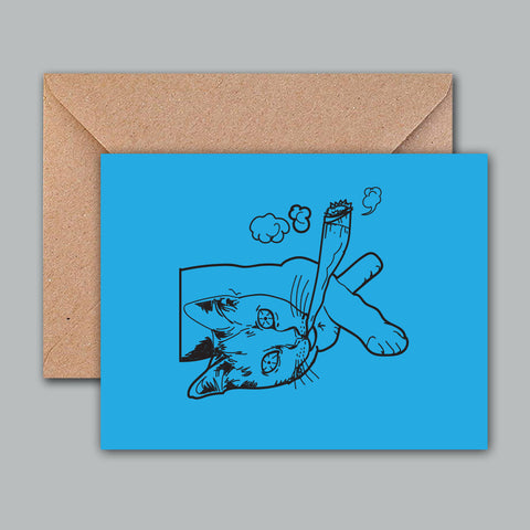 Greeting Card - Buzz Cat-STATIONERY-PropShop24.com