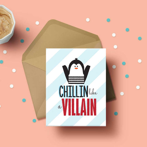 Greeting Card - Chilling like a Villain-Stationery-PropShop24.com