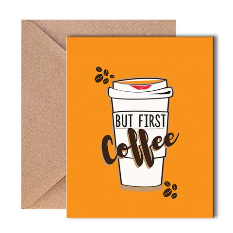 Greeting Card - Coffee First-Stationery-PropShop24.com