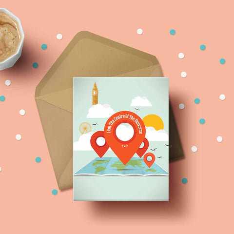 Greeting Card - Centre of the Universe-Stationery-PropShop24.com