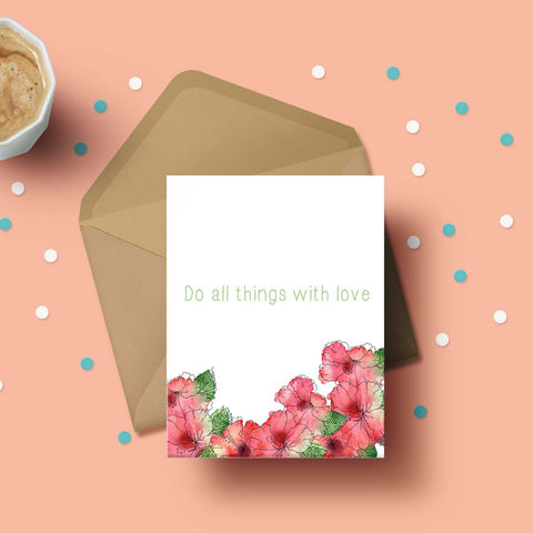 Greeting Card - Do All Things With Love-Stationery-PropShop24.com