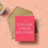 Greeting Card - Explore Dream Discover-Stationery-PropShop24.com