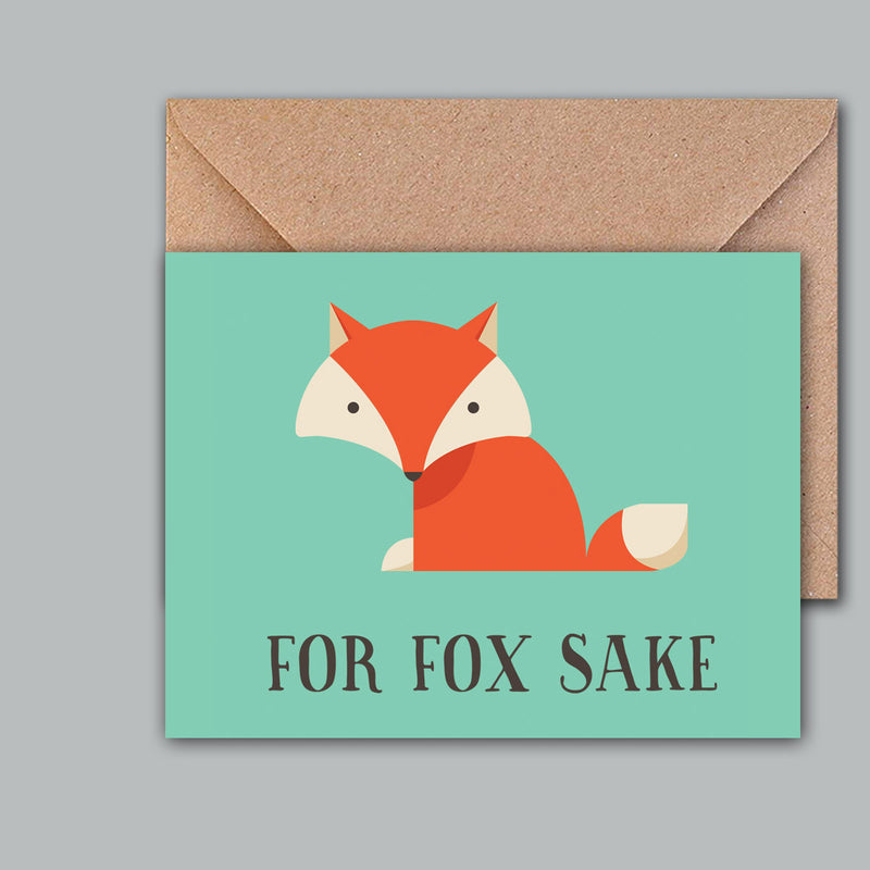 Greeting Card - For Fox Sake-GREETING CARDS-PropShop24.com