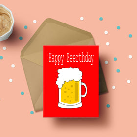 Greeting Card - Happy Beerthday-STATIONERY-PropShop24.com