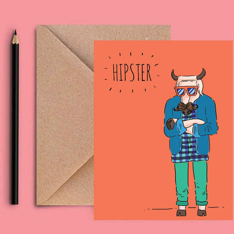 Greeting Card - Hipster-Stationery-PropShop24.com