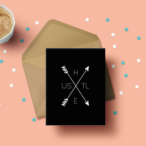 Greeting Card - Hustle Arrow-Stationery-PropShop24.com