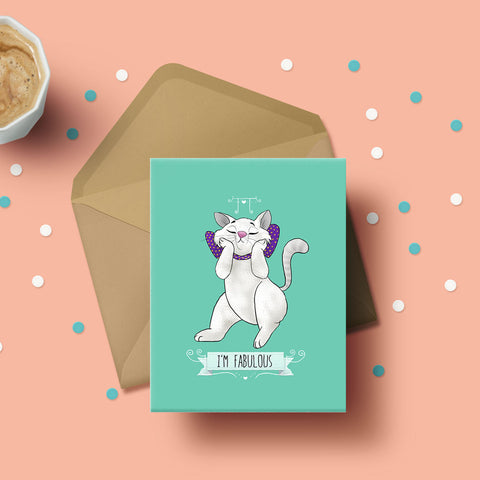 Greeting Card - I'm Fabulous-Stationery-PropShop24.com