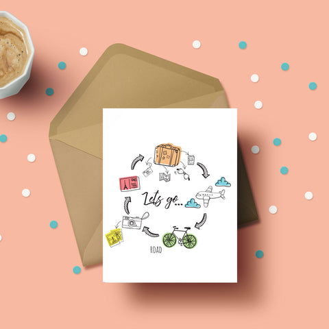 Greeting Card - Let's Go-STATIONERY-PropShop24.com
