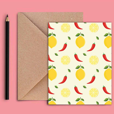 Greeting Card - Lime and Lemon-STATIONERY-PropShop24.com