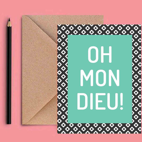 Greeting Card - Oh Mon Dieu!-Stationery-PropShop24.com