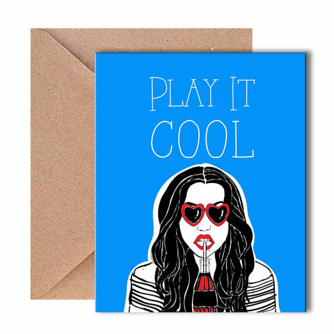 Greeting Card - Play it Cool - Blue-Stationery-PropShop24.com