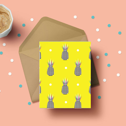 Greeting Card - Pineapple Polka-STATIONERY-PropShop24.com