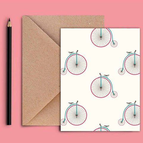 Greeting Card - Retro Unicycle-STATIONERY-PropShop24.com