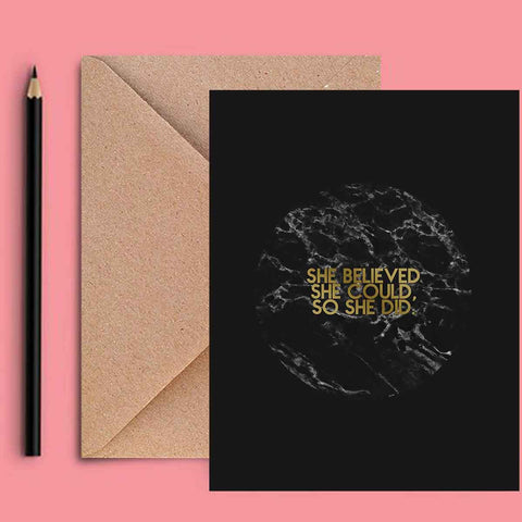 Greeting Card - She Believed-Stationery-PropShop24.com