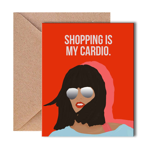 Greeting Card - Shopping is my Cardio-Stationery-PropShop24.com
