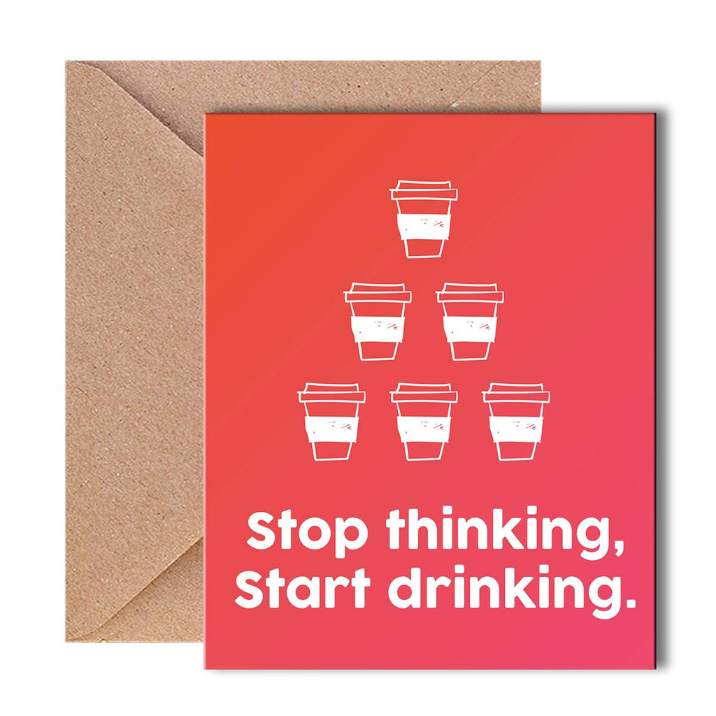 Buy greeting card stop thinking online propshop24 greeting card stop thinking kristyandbryce Images