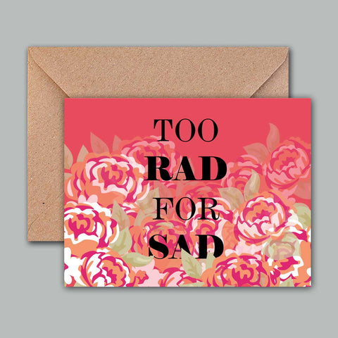 Greeting Card - Too Rad-STATIONERY-PropShop24.com