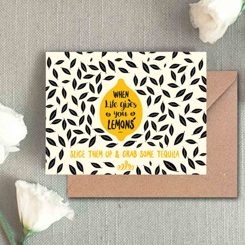 Greeting Card - When Life Gives You Lemons-Stationery-PropShop24.com