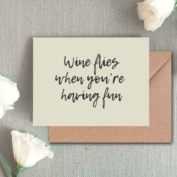 Greeting Card - Wine Flies-Stationery-PropShop24.com