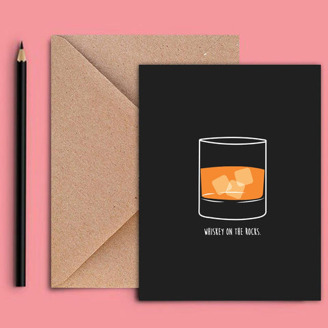 Greeting Card - Whiskey-STATIONERY-PropShop24.com