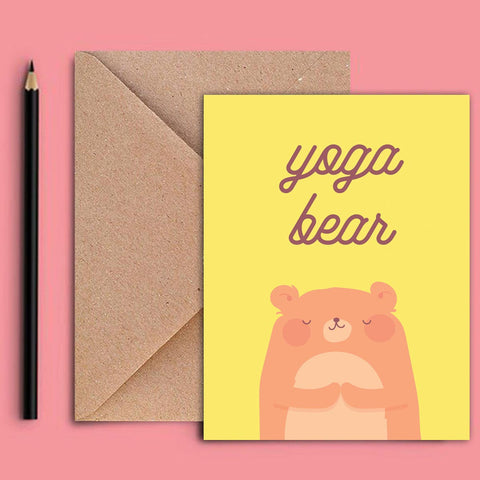 Greeting Card - Yoga Bear-Stationery-PropShop24.com
