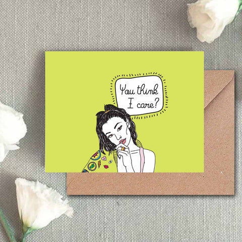 Greeting Card - You Think I Care-Stationery-PropShop24.com