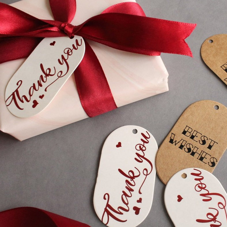 Gift Tags - Thank You And Best Wishes - Set Of 10-GIFTING ACCESSORIES-PropShop24.com