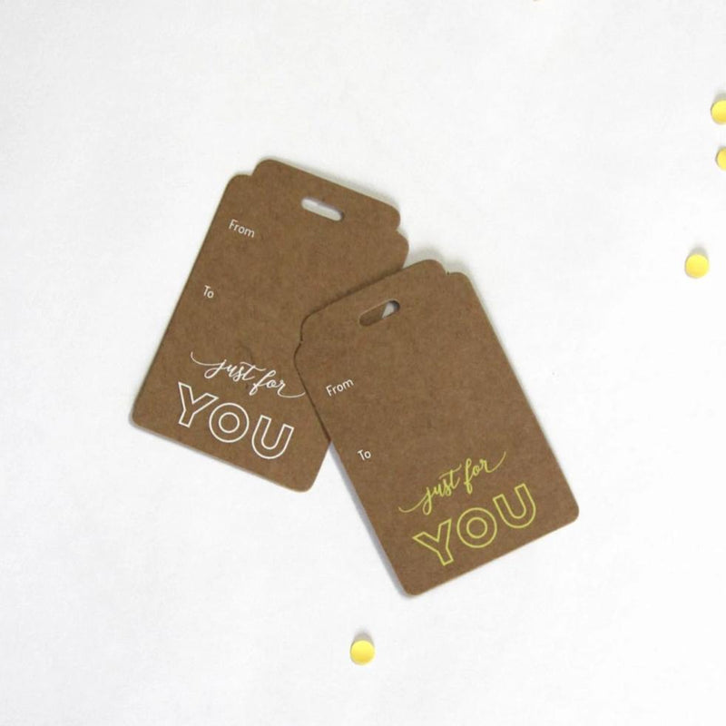 Just For You Gift Tags - Pack Of 10-GIFTING ACCESSORIES-PropShop24.com