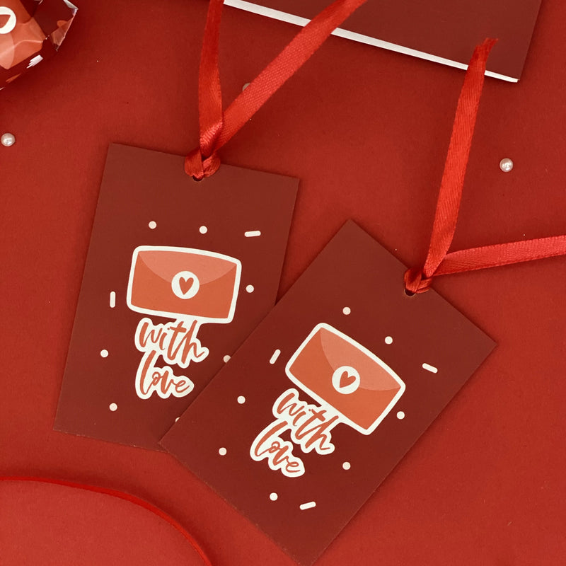 Gift Tags - With Love - Set Of 2-GIFTING ACCESSORIES-PropShop24.com