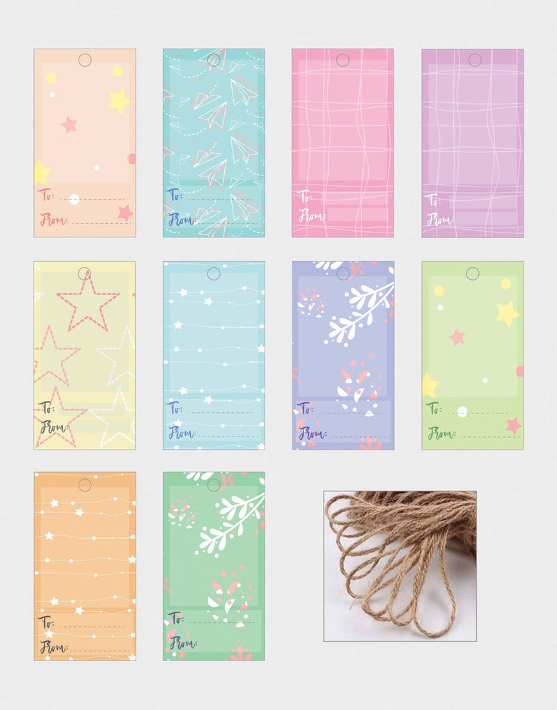 Gift Tags - Patterned - Set Of 10-GIFTING ACCESSORIES-PropShop24.com