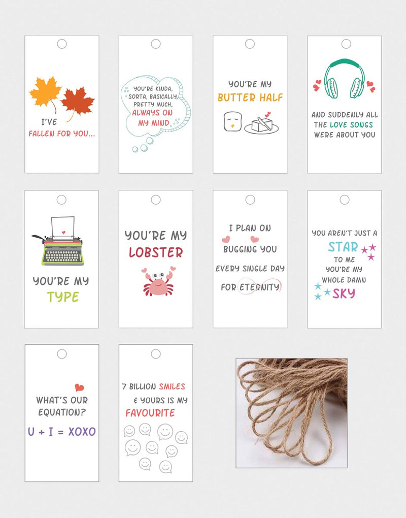 Gift Tags - Love - Set Of 10-GIFTING ACCESSORIES-PropShop24.com